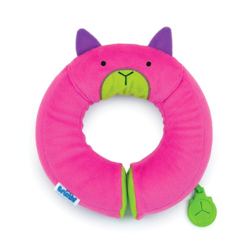 Trunki Yondi Travel Pillow, Pink, Small (Childrens Travel Neck Pillow)