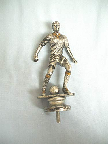 lot of 17 Male Soccer Kicker Trophy Parts Pewter Color Finish 5