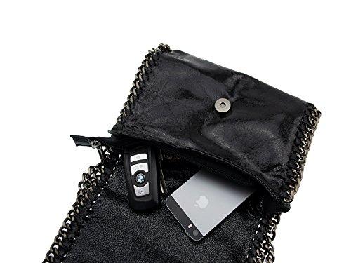 fabriqué disponibles Noir «jolene cuir en soirée véritable coloris sac italie kettenstil bandoulière en plusieurs