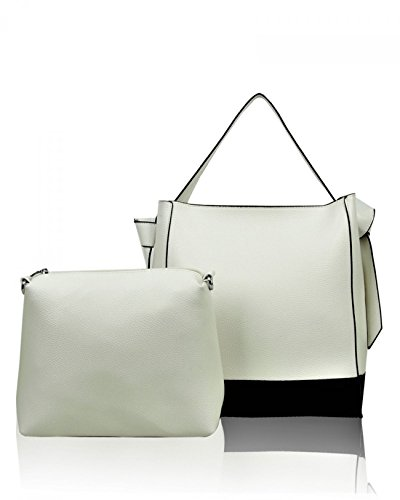 Women's 0201 One Leather Cm Handbags LeahWard White In Faux Two 42x30x16 SdxgCCqaw