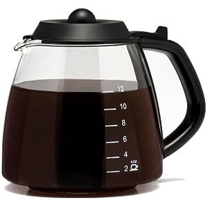 Medelco 12 Cup Millennium Style Carafe, Black GL312