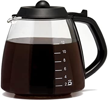 One All 12 Cup Millennium Style Carafe, Black GL312 Medelco 1-GL312-BL-4