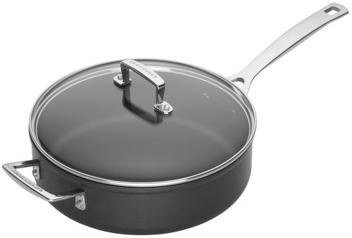 Le Creuset Toughened Nonstick 4-1/4-Quart Saute Pan and Glass Lid
