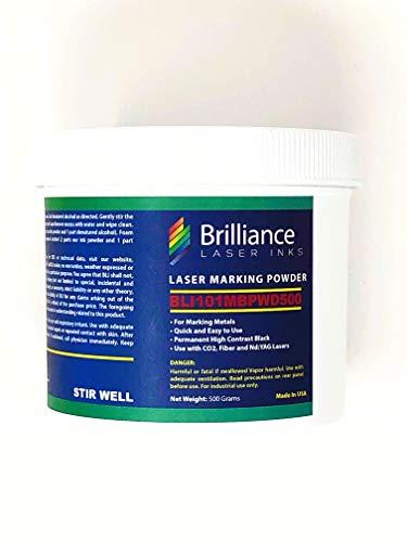 Laser Marking Powder-''Brilliance Laser Inks'' -BLI101MBPWD500 Grams- Black Laser Ink Powder for Metals Marking with CO2/Fiber/YAG (500 Grams) by Brilliance Laser Inks (Image #7)
