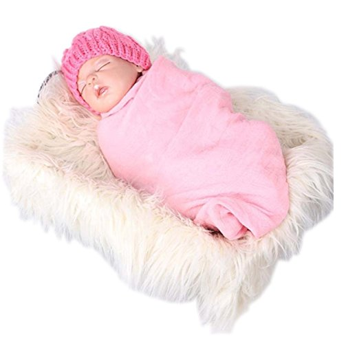 (Voberry Baby Photo Props Newborn DIY Photography Soft Fur Quilt Photographic Mat)
