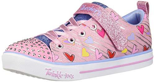 Skechers Kids Girls' Sparkle LITE Sneaker, Light Pink/Multi, 9 Medium US Toddler (Skechers Girl Shoes Light Up)