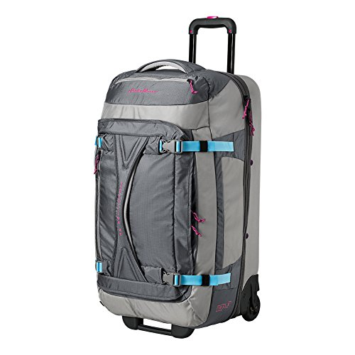 Eddie Bauer Unisex-Adult Expedition Drop-Bottom Rolling Duffel - Large, Gray Smo by Eddie Bauer