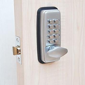 DL mecánico contraseña cerradura de la puerta Cerrojo Bloqueo de Código: Amazon.es: Hogar