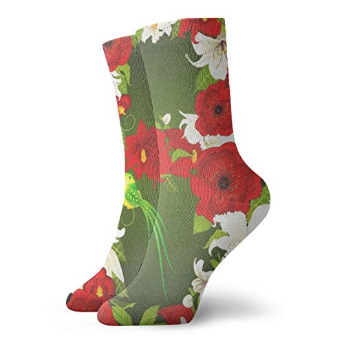 - Crew Socks Letter B With Flowers And Bird Trendy Womens Stocking Accessory Sock Clearance For Girls