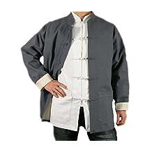 Premium Linen Grey Kung Fu Martial Arts Tai Chi Jacket Coat XS-XL Tailor Made