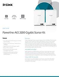 D-Link Powerline AV2 2000 Adapter Gigabit Extender Starter Kit (DHP-701AV)