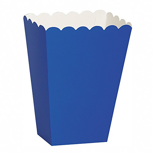 Ideas Costume Popcorn (Scalloped Blue Popcorn Treat Boxes,)
