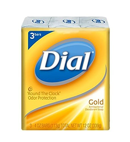 Price comparison product image Dial Antibacterial Deodorant Soap, Gold, 4 Ounce, 3 Count