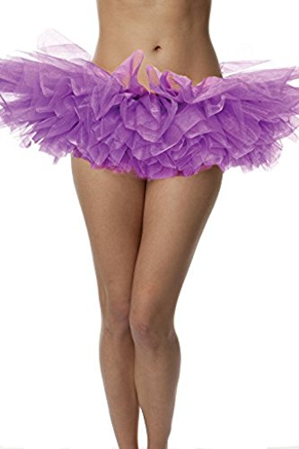 BellaSous Top Rated Adult Tutu Skirt, Ballet Tutu Style, by Perfect Princess Tutu, Adult Dance Skirt, Rehearsal Tutu, Or Petticoat Skirt. Plus Size Tutu Available! (Purple Tutu, Standard Size)