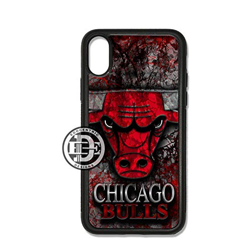 C DESIGN & CO. Bulls Basketball Sports Team TPU Rubber Silicone Phone Case ()