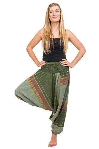 - Pantalón Sarouel nepalais brillante Aladin indio - Sari jaune