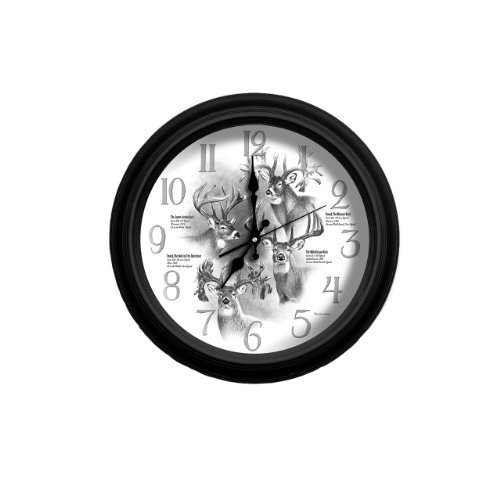 Cheap Reflective Art World Record Whitetail Classic Wall Clock, 16-Inch