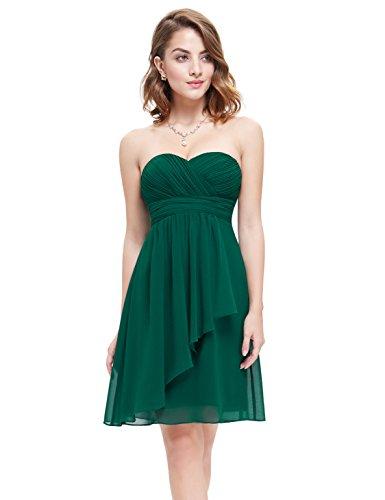 Ever cuello e instrucciones para hacer vestidos de la novia sin tirantes diseño de Luca Johnson UK diseño con corazones 03540 Verde
