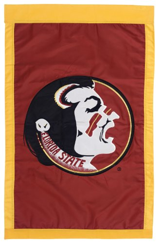 NCAA Florida State Seminoles Double Sided 29 x 44-Inch Applique Flag