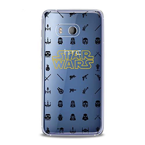 Lex Altern TPU Case HTC Desire 12 Plus U12 U11 Life Dual Sim Card + Clear Silicone Cover Start Wars Print Skywalker Protective Lightweight Flexible Girl Lady Soft Kid Smooth Teen Trend Grido Space ()