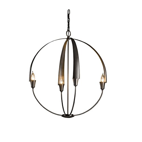 Hand Forged Iron Large Chandelier (Hubbardton Forge 104203-20-NO Cirque Large Chandelier, Natural Iron Finish)