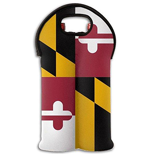 VHDOKL Red Wine Bottle Tote Maryland 2-Pack Wine Gift Bag Carrier Handbag by VHDOKL