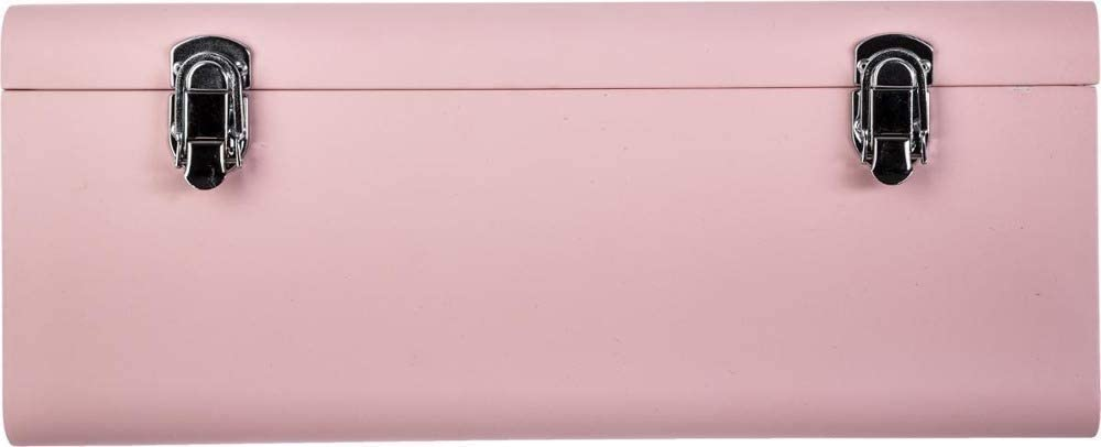 Set mit 2 pinkfarbenen Metallkantinen