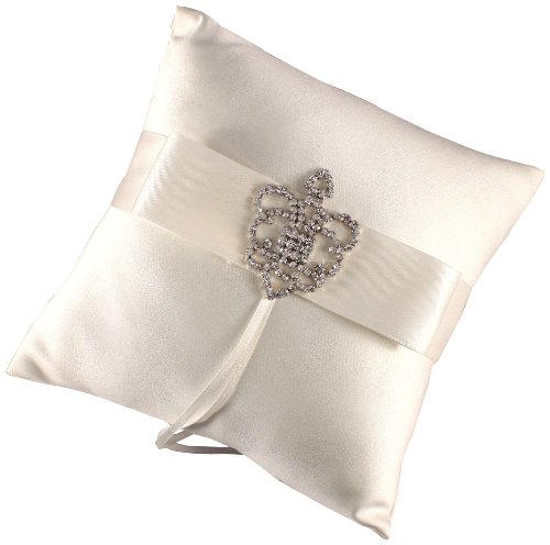 Weddingstar Beverly Clark The Crowned Jewel Collection Ring Pillow, Ivory - Beverly Clark Ring Pillow