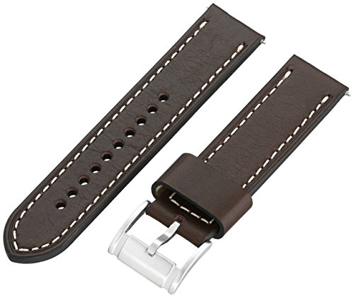 - Fossil S221242 22mm Leather Calfskin Brown Watch Strap