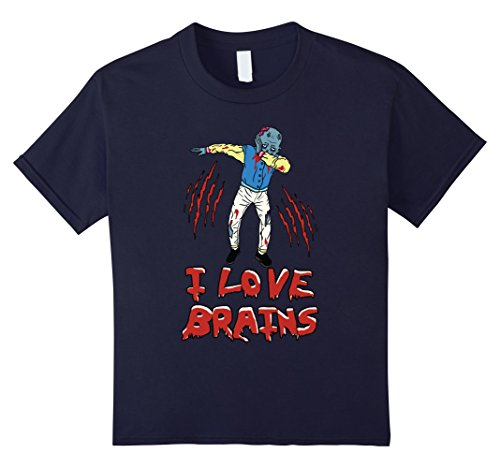 [Kids Dabbing Zombie Shirt Funny Halloween Zombie Costume T-Shirt 12 Navy] (Last Minute Partner Halloween Costumes)