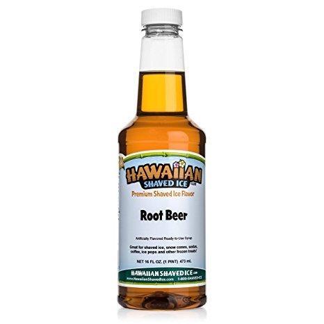 Hawaiian Shaved Ice Syrup, Root Beer, Pint