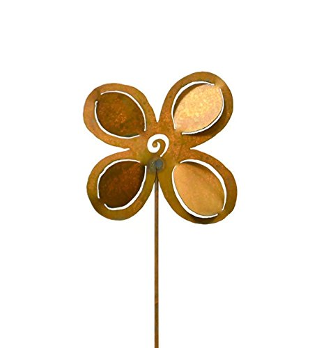 Dimensional Flower Rustic Metal Garden Decor, Yard Stake