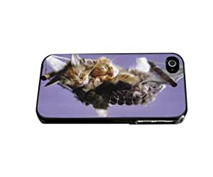 Two Kittens Sleeping in Hammock Wih Lilac Purple Background Hard Snap on Phone Case (iPhone 5/5s)