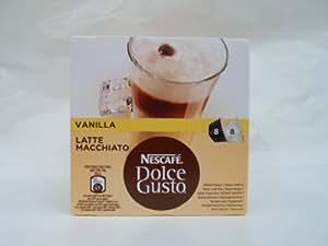 Capsulas de cafe nescafe dolce gusto cafe latte macchiati vainilla 8 + 8 unidades