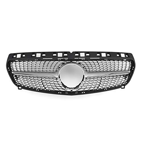 Front Diamond Style Car Grille, Upper Hood Grille Grill Trim Shell for Mercedes W117 CLA Class 2013 2014 2015
