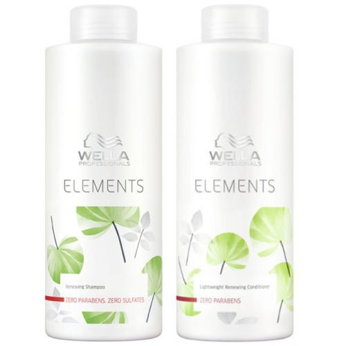 Wella Elements Organic Renewing Shampoo + Lightweight Renewing Conditioner 1000ml by Wella
