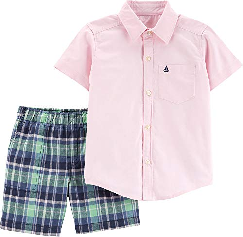 Carter's Baby Boys' 2 Pc Playwear Sets (18 Months, Pink/Navy) ()