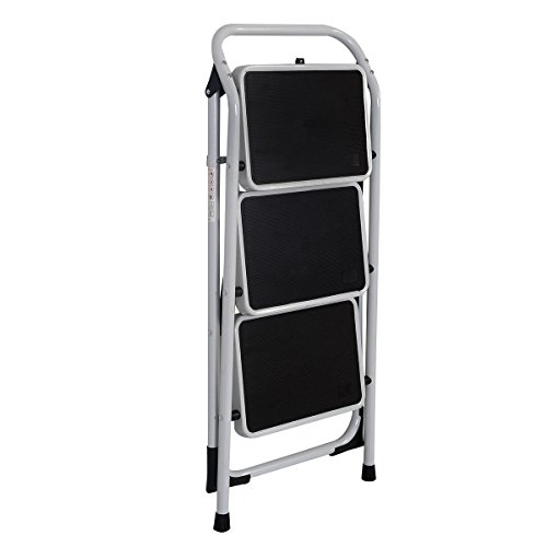Platform HD Ladder 3 Step Lightweight Foldable Stool 330 LB Cap. Saving Space