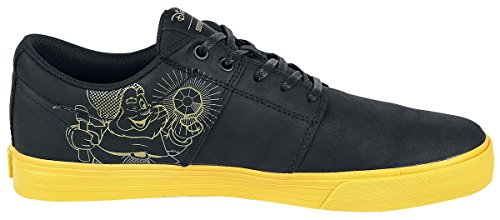 Supra Stacks Vulc II - Happy Baskets Noir/Jaune EU45