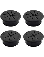 4pcs Desk Grommet Aperture 50mm Data Cable Storage and Sorting Tools (Black)
