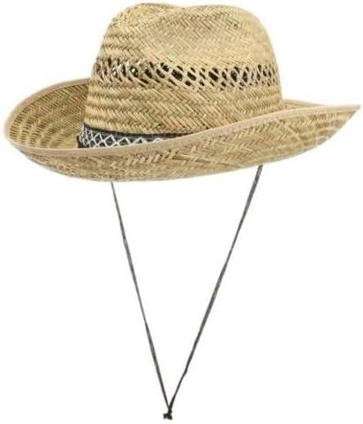 BMV Cappello Paglia VENTILATO Texas Cowboy Varie Misure 55//56//57//58//59//60//61
