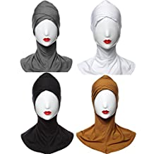 GladThink 4 X Womens Muslim Hijab Caps Islamic Scarfs Set No.5