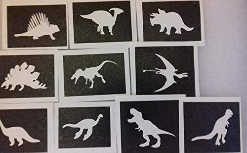 Dazzle Glitter Tattoos 30 dinosaurio temático plantillas para los ...