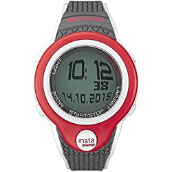 Reebok Pump InstaPump Digital Men's Chrono Watch Gray White and Red RC-PIP-G9-PRPA-WB