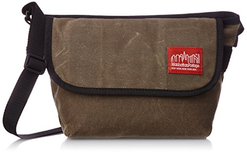 Manhattan Portage Waxed Canvas Messenger Bag (XXS), Dark Brown (Waxed Canvas Messenger Bag Made In Usa)