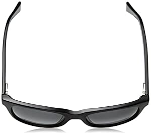 Cole Haan Women's Ch7011 Plastic Rectangular Sunglasses, Black, 54 mm