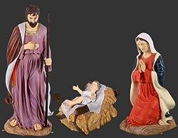 Life Size Holy Family Nativity, Joseph, Mary, Baby Jesus - Life Size Holy Family Nativity, Joseph, Mary, Baby Jesusthis 3 Piece Life Size Nativity Features Mary, Joseph And Baby Jesus. Proudly Displa