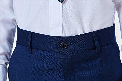 Boys Classic Formal Dress Suits Set 5 Piece Slim Fit Dresswear Suit (8, Navy Blue 2) by WQI.HAN (Image #5)