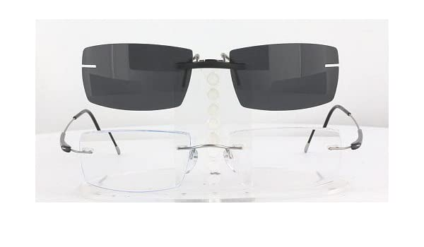05431674fe Amazon.com  SILHOUETTE 7719-52X19 POLARIZED CLIP-ON SUNGLASSES (Frame NOT  Included)  Health   Personal Care