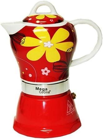 Cubana Café cafetera 4 tazas, color rojo: Amazon.es: Hogar